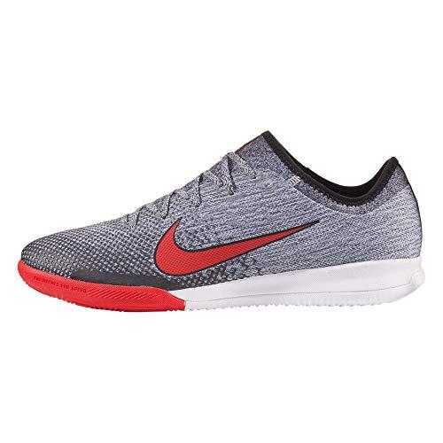 Nike MercurialX Vapor 12 Pro Neymar IC Soccer Shoe (White/Challenge Red) (Men's 9.5/Women's 11)