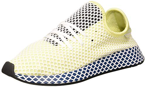 adidas Deerupt Runner, Zapatillas Hombre, Yellow Tint/FTWR White/Legend Marine, 44 EU