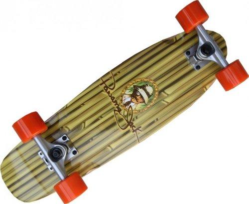 Oldschool Skateboard Profi Wood Cruiser 70s Style Panama Jack 61 x 18 cm - Short Longboard