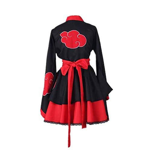 Anime Naruto: Shippūden Cosplay Kostüm Halloween Karneval Lolita Röcke Gothic Kimono Kleid für Kostüm Anime Ausstellung