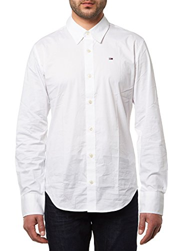 Tommy Hilfiger - 1957888891 - Chemise - Homme - Blanc (CLASSIC WHITE 100) - L