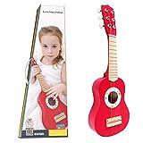 BakaKa Guitarra para niños Ukelele Musical de Juguete Guitarra de Madera Instrumento Musical de 4 Cuerdas Juguete Educativo para niños pequeños Niños Niñas