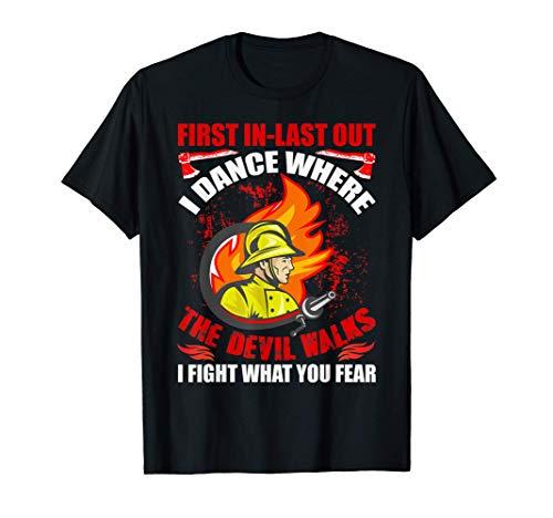 Primero en entrar último en salir BOMBEROS Rescate de bomber Camiseta