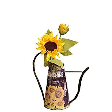 Your Hearts Delight Sunflower Watering Can, 12-3/4 by 12-1/2 by 6-Inch