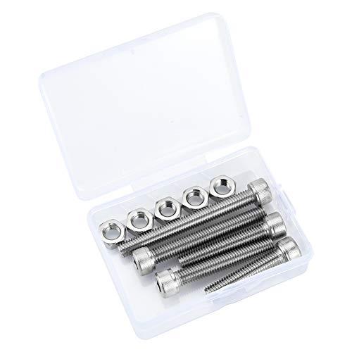 10 vis à tête cylindrique à six pans creux M8, Jeu de boulons et écrous en inox 304, 8 mm x 40/45/50/60/70 mm