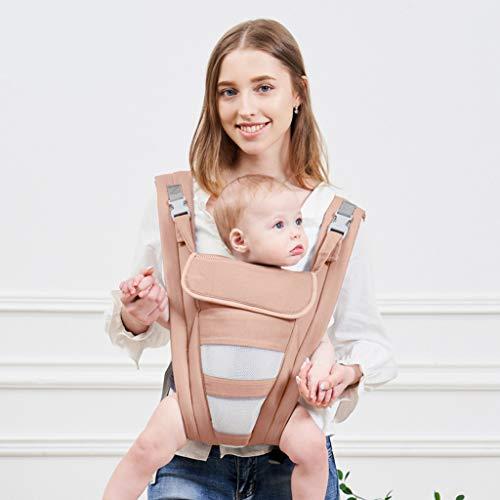 Bulawlly Nouveau-né Hipseat Wrap Sac Sling 360 Ergonomique Porte, Wrap Porte-bébé Carry Positions Tous 100% Coton pour All Seasons, Baby Shower Cadeau Parfait,C