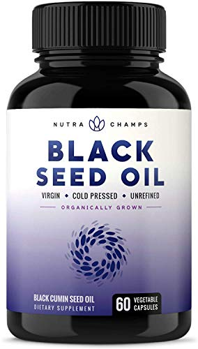 Organic Black Seed Oil Capsules [Extra Strength] Premium 1000mg Black Cumin Supplement - Nigella Sativa Softgels w/Thymoquinone & Omega 3 6 9 - Virgin, Unrefined, Cold Pressed Unfiltered Pills