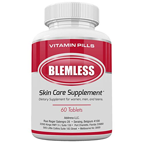 Blemless Clear Skin Supplements Pill UK- Best Tablets for Oily Skin and a...