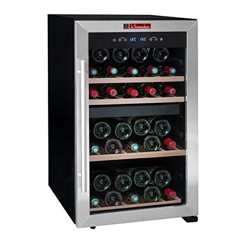 La Sommelière LS51.2Z - Botellero de ajuste a temperatura (50 botellas, dos zonas de temperatura), ocupa poco espacio