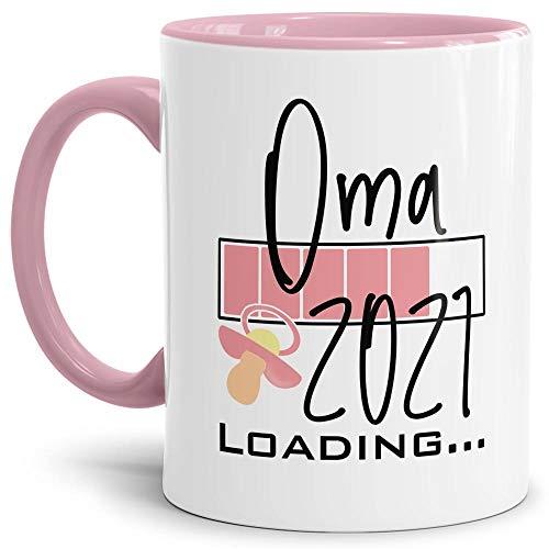 Tasse - Loading Du wirst Oma 2021 - Geschenk/Endlich Schwanger/Schwangerschaft/Babynews - Rosa