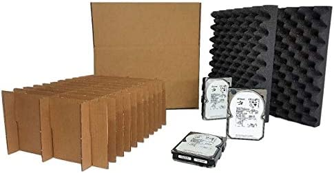Tek Source Solutions 3 5 Hard Disk Drive Slotted Shipping Storage Box Container Kit Protective product image