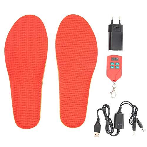 Solette riscaldate, 35-60 Solette riscaldanti per tappetini per scarpe da riscaldamento dei piedi per caccia di sport all'aperto Ricarica USB(41-46-Spina...