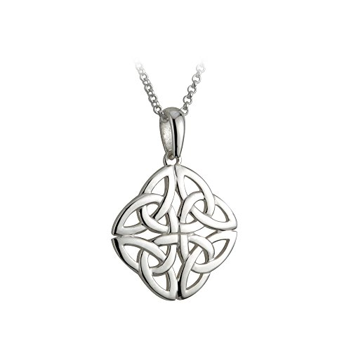 Celtic Knot Necklace Sterling Silver Made in Ireland