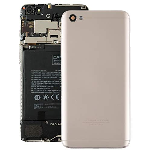 LIUXING Cubierta Posterior con Lente de cámara y Teclas Laterales for Xiaomi Redmi Note 5A Carcasa Posterior del teléfono móvil (Color : Gold)