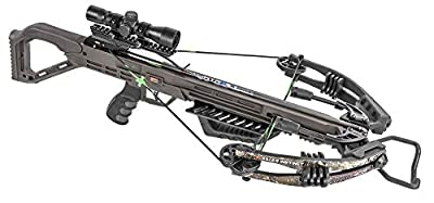 Killer Instinct MSCKI-1000 Lethal 405 fps Crossbow Bow Pro Package with 3 Arrow Bolts and Adjustable Foregrip for Archery Hunting Hunters, Camo