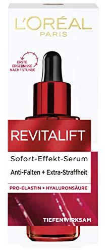 L'Oréal Paris Revitalift Glad vochtserum met Pro-Elastine, hyaluronzuur en de anti-rimpel-actieve stof adenosine, 30 ml