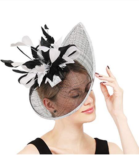 Hoed Bruiloft Vrouwen Elegante Headdress Formele Jurk Party Dames Hoed Accessoires Haarband Retro