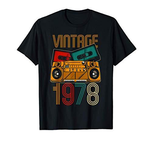 43 Cumpleaños Hombre Mujer 43 Años Vintage 1978 Camiseta
