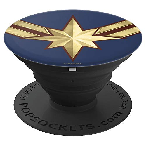 Marvel Captain Marvel Movie Gold Blue Logo - PopSockets Grip and Stand for Phones and Tablets