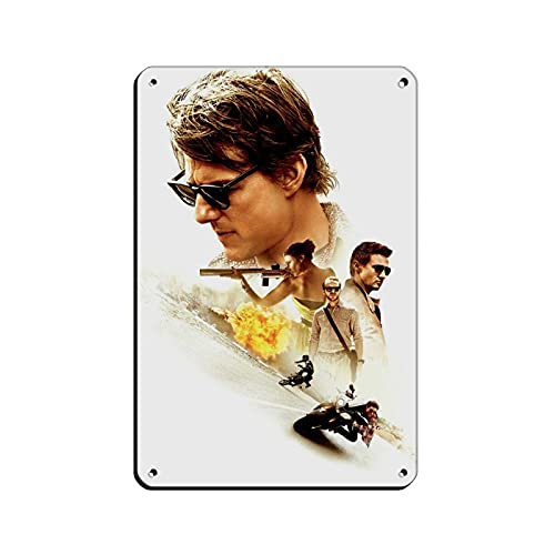 Mission Impossible – Rogue Nation 1 Wandbild, Blechschild, Vintage, Metall, für Kneipen, Clubs, Cafés, Bars, Zuhause, Wanddekoration, Poster, Retro, 20 x 30 cm