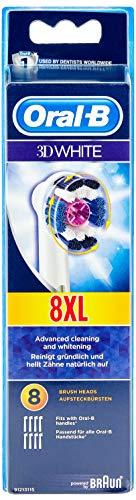 Oral-B 3D Ersatzbürstenköpfe für elektrische wiederaufladbare Zahnbürste, weiß