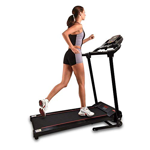 SereneLife Smart Digital Folding Exercise Machine - Electric Motorized Treadmill with Downloadable Sports App for Running & Walking - Pairs to Phones, Laptops, Tablets via Bluetooth - SLFTRD18