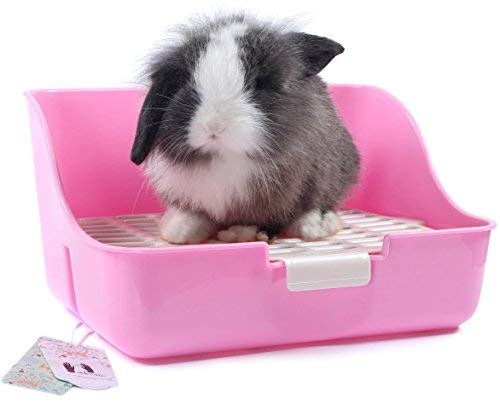 Mkono Rabbit Cage Litter Box Potty Trainer for Adult Guinea Pig Ferret Small Animal