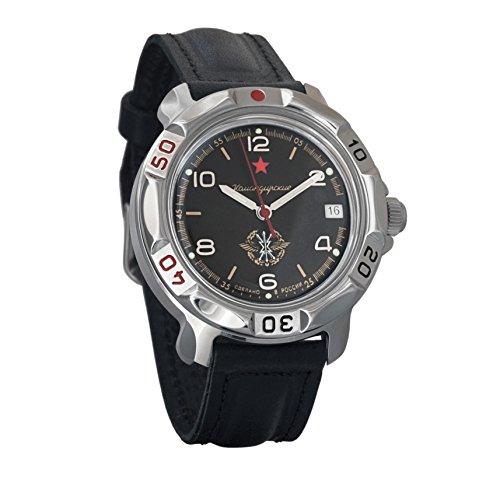 Vostok Komandirskie 2414 Reloj Militar Ruso mecánico de Cuerda Manual // 811296 (Classic)