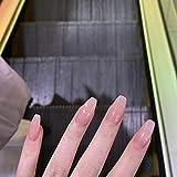 BZEAA 24pc / Set New Press en Las Puntas de Las uñas PINTE Cubierta Cubierta Completa Falsa NAILES Light Negros Color SÓLIDO Color FABILIDAD Claves con PEGEN (Color : 002)
