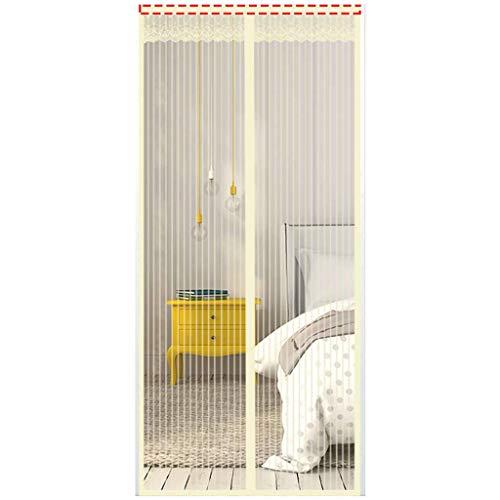 Magnetische Fliegengitter-Tür, freihändig mit magnetischem Moskitonetz, Anti-Schädlingsminderung, Lärmnetz, Trennwand für Schlafzimmer, Wohnzimmer, Terrasse 90x240cm(35x94inch) D