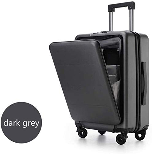 YJX Cabin Trolley Case Luggage Box Pure Pc 20' Inch Men Carry On Laptop Small Travel Suitcase (Color : Dark Grey, Size : 20')