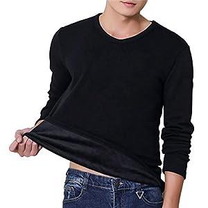 メンズ ロングスリーブ tシャツ 長袖 無地 厚手 裏起毛 アンダーウェア メンズ