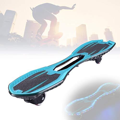 Grist CC LED Waveboard Swing Board, Streetsurfing Skateboard, Mit 360° Rotieren Leuchtenden Rädern, Torsion Balance Wave Boards, Für Jugendliche Erwachsene Kinder,Blau