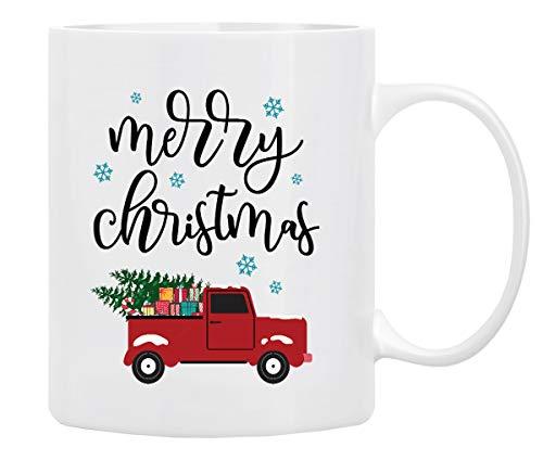 Christmas Coffee Mug, Holiday Coffee Mug ''MERRY CHRISTMAS'', Funny Christmas Movie Mugs from family, friends –Mug in Decorative Christmas Gift Box (11 oz)