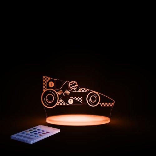 Aloka SleepyLights™ - Lámpara LED de Noche Multicolor (Coche de Carreras)