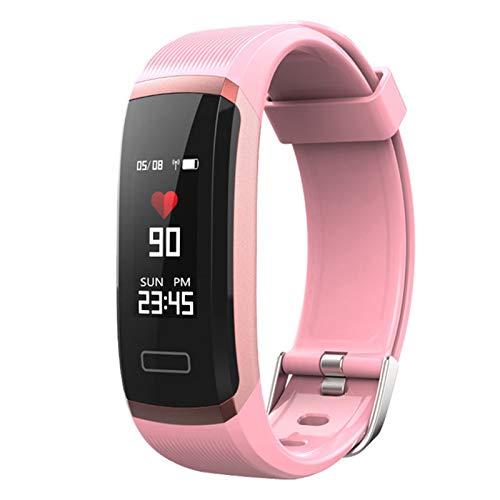 YDK Pulsera Inteligente Deportiva GT101 GT101 A Prueba de Agua Reloj de Fitness para Hombres y Mujeres Monitor de Ritmo cardíaco Bluetooth Reloj Inteligente Impermeable para iOS Android,C