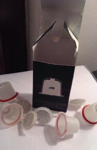 10 capsule ricaricabili Nespresso, possono essere utilizzate fino a 30 volte