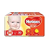 Huggies Dry Taped Baby M Diapers (30 Pieces)