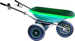 Smartwiel AKKUSCHUBKARRE DELUXE Elektroschubkarre Motorschubkarre Tragfähigkeit 150 kg (85 l, Grün) Li-Ion AKKU