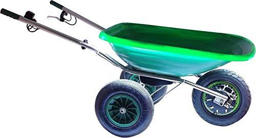 Smartwiel CARRETILLA ALIMENTADA POR BATERÍA DELUXE 85l, Verde CAPACIDAD: 150 kg