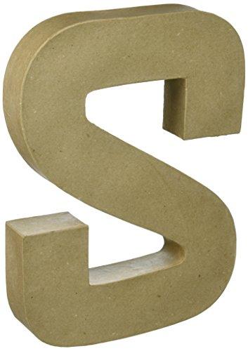 Darice 2861S Paper Mache Letter 12Inx15In Natural