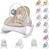 sdraietta e sedia Lorelli ENJOY con vibrazione, musica, schienale regolabile, colorazione:beige
