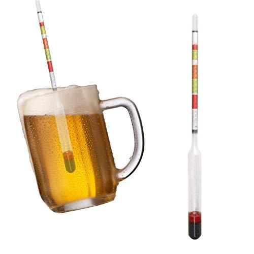 Medidor De Alcohol De Azúcar De Vino Auto-preparado De Hidróxido De Triple Escala 2pcs Para Cerveza Casera