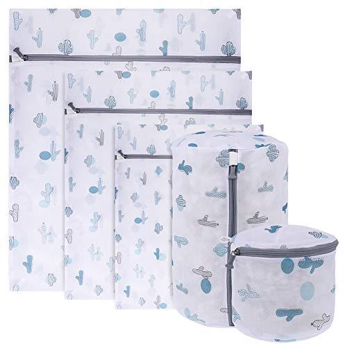 Popuppe 5 bolsas de lavandería de malla para lavadora, con cremallera, para sujetadores, ropa interior, calcetines, vestidos, camisetas, ropa de bebé