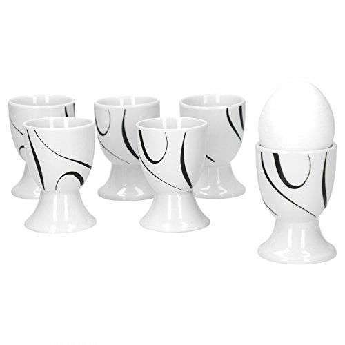 Van Well Galaxy Lot de 6 coquetiers ronds en porcelaine de marque Ø 4,8 cm Hauteur 7 cm