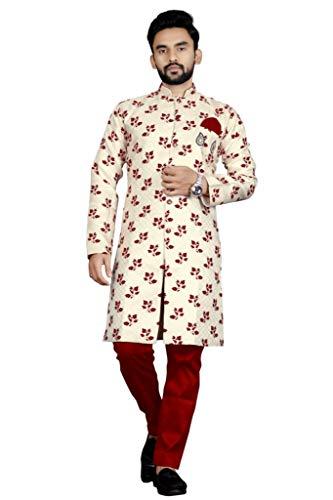 N.B.F Fashion Ethnic wear Sherwani for Mens - Red (X-Large)