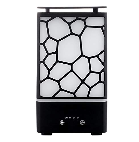 Luftreiniger Wohnung Ätherische Öle Düfte Duftöldiffusoren Ultraschall Öl Diffusor LED mit 7 Licht Farben Perfekt für Auto Büro Desktop und Schlafzimmer Luftreiniger