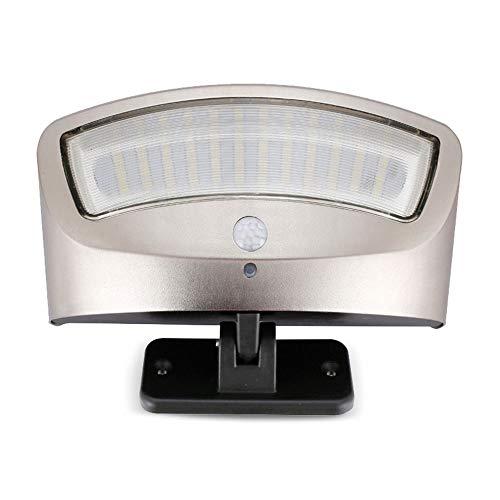 WYY buitenverlichting op zonne-energie, wandlampen met bewegingssensor-verlichting draadloze waterdichte veiligheids-LED zonnelampen voor tuin, terras, tuin, omheining