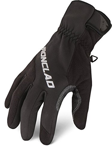 Ironclad Cold Protect Gloves, Fleece Lining, XL, PR, Black (SMB2-05-XL)