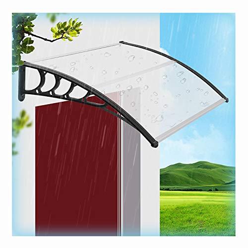 LIANGLIANG Vordach Haustür Überdachung, Stiller Regen Aluminiumlegierung Starke Tragfähigkeit, Benutzt für Türen und Fenster Campus Gemeinschaft Schild (Color : Transparent, Size : 100x60cm)